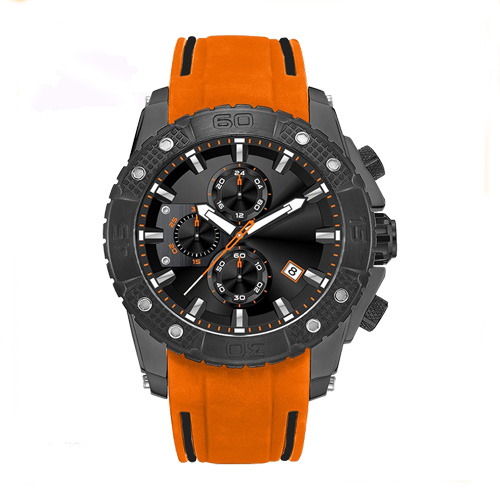 Mens watches with silicone strap