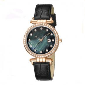 Smaller watch face ladies analog watches With genuine leather strap
