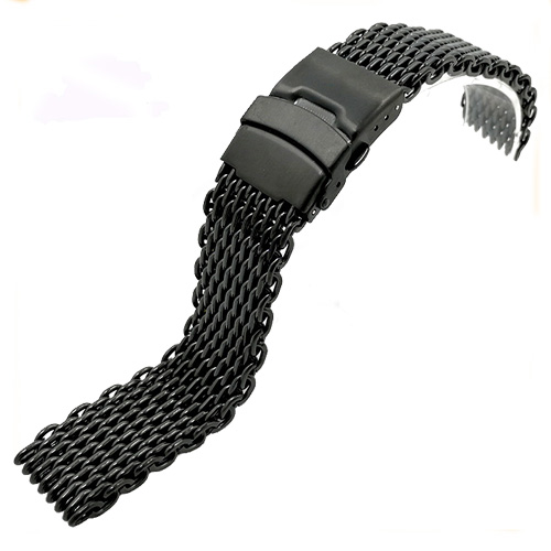 Solid stainless steel mesh band