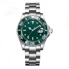 Custom logo 904L C3 luminous automatic movement green dive man watches